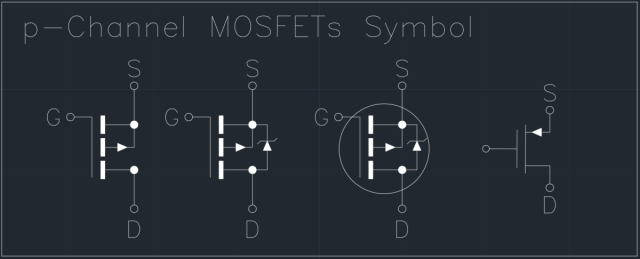 P Channel Mosfets Symbol Autocad Free Cad Block Symbol And Cad