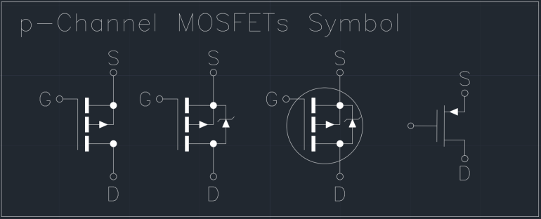 p-Channel MOSFETs Symbol