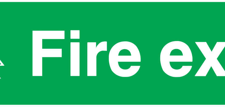 Man Running Left Fire Exit