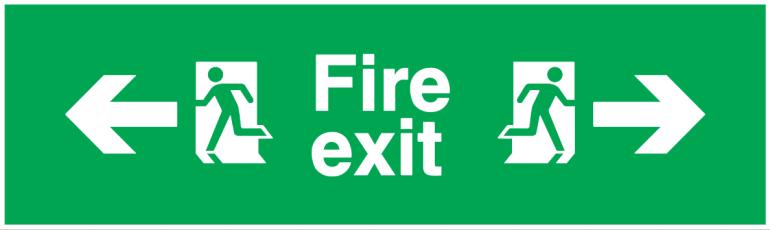 arrow left running man left fire exit running man right arrow right