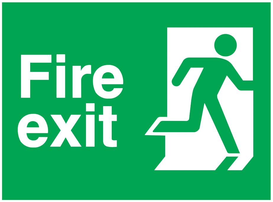 Fire Exit Running Man Right Sign Autocad Free Cad Block Symbol
