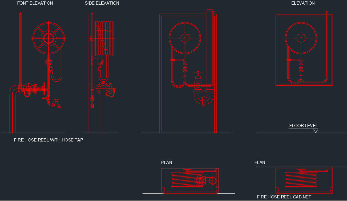 Fire Hose Reel Cabinet Free Cad Block Symbols And Cad