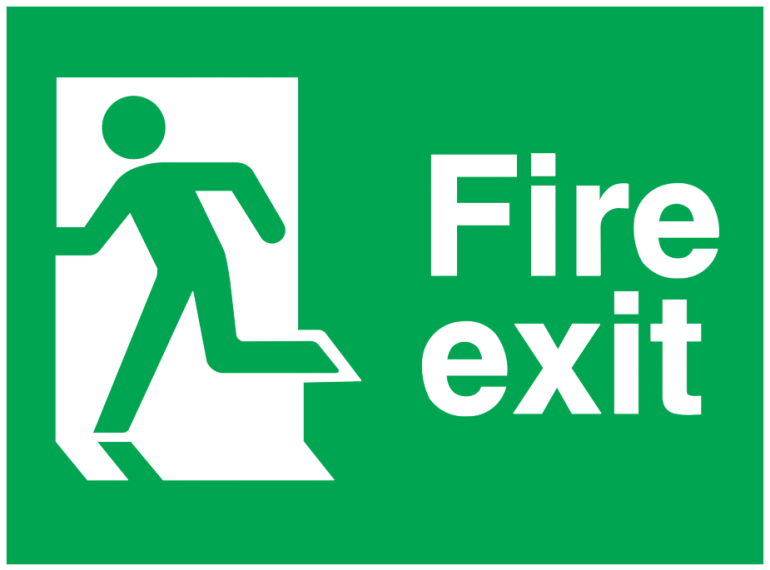 running man left fire exit