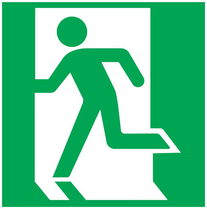 running man left symbol