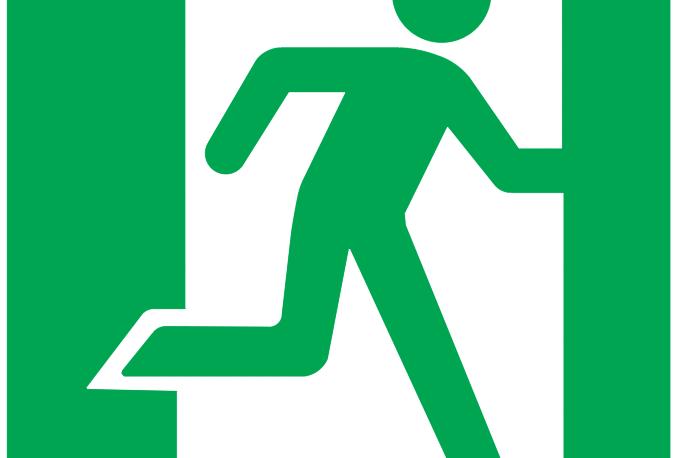 Exit Sign Autocad Free Cad Block Symbol And Cad Drawing