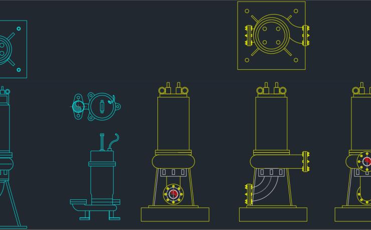 Diaphragm pump autocad free cad block symbol and cad drawing submersible pumps ccuart Choice Image