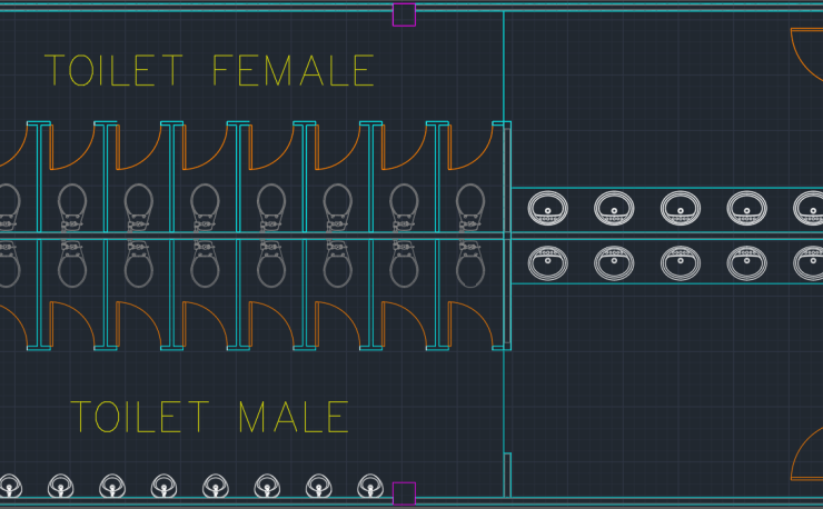 TOILET MALE AND FEMALE