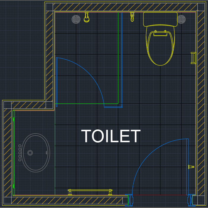Toilet drawing autocad free cad block symbol and cad for Online autocad drawing