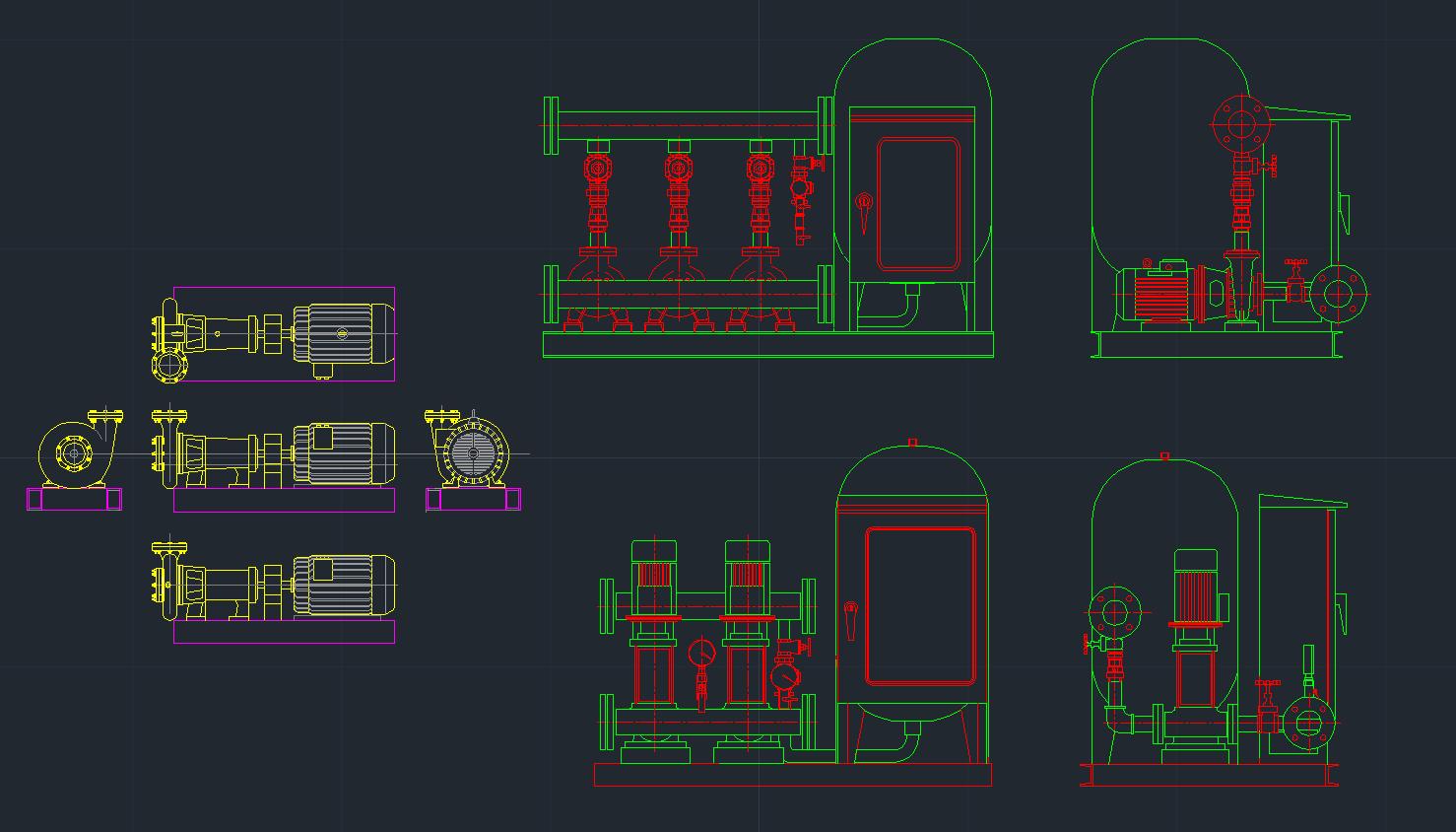 Booster Pump Autocad Free Cad Block Symbol And Cad Drawing