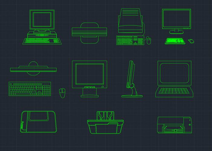 Computer CAD Block