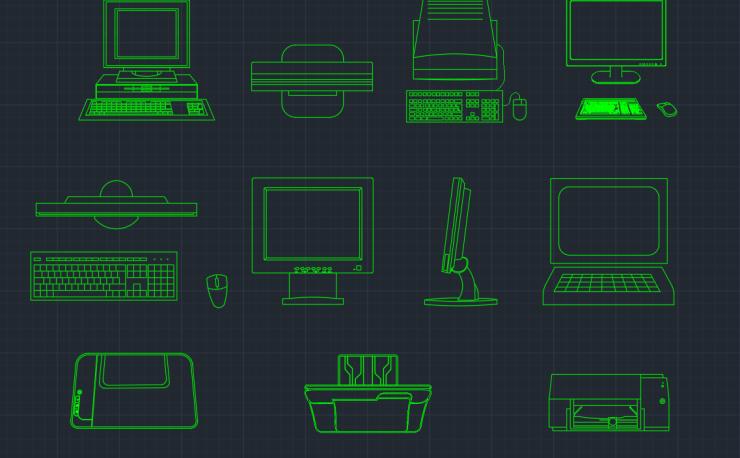 Monitor Dwg Free Cad Block Symbols And Cad Drawing