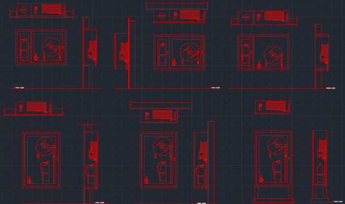 Fire Hose Cabinet Cad Block And Typical Drawing For