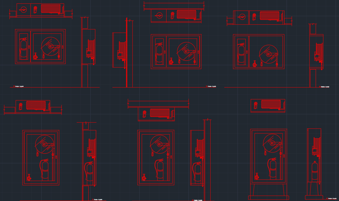 Fire Hose Cabinet Free Cad Block Symbols And Cad Drawing