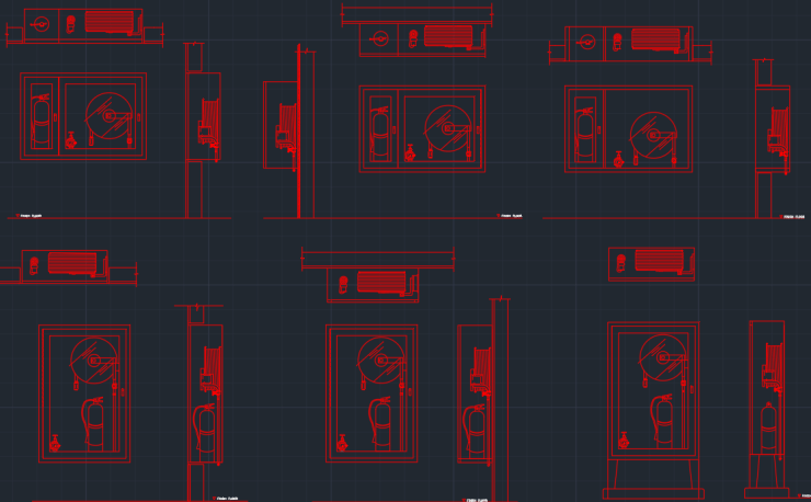 Fire Extinguisher Autocad Free Cad Block Symbol And Cad Drawing