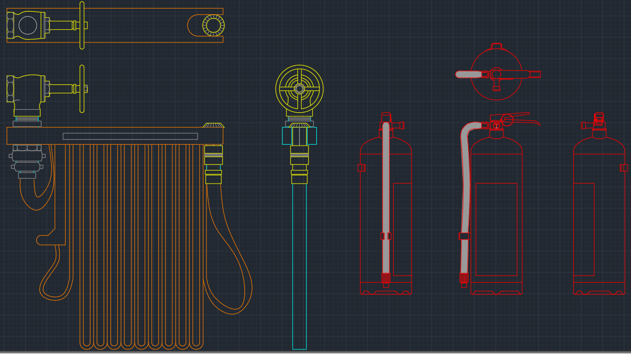 Portable Fire Extinguisher Free Cad Blocks And Cad Drawing
