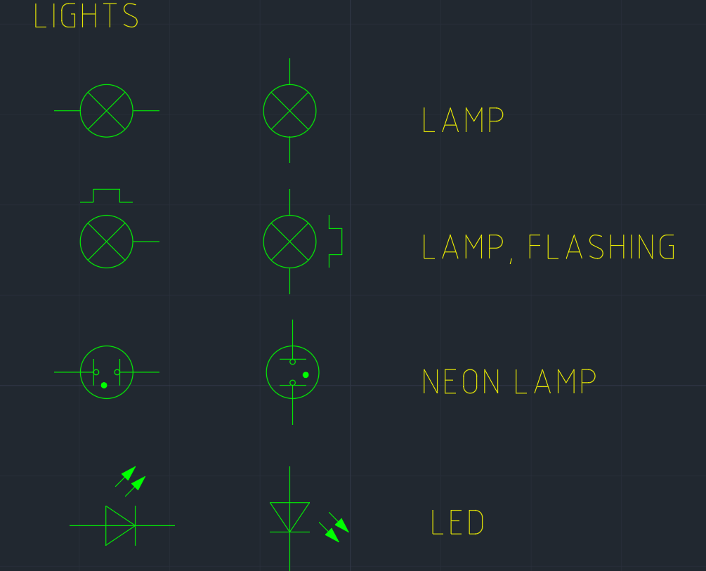 Light Symbol Cad Block And Typical Drawing For Designers