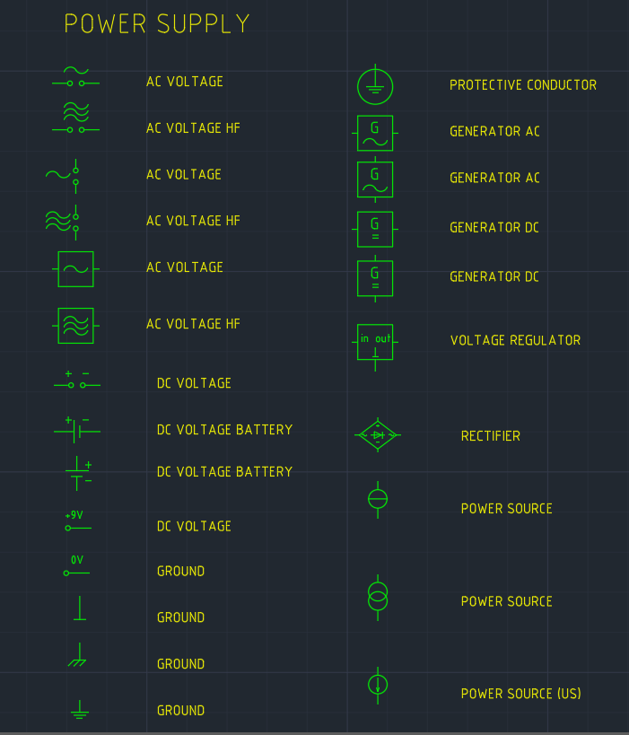 Power Supply Symbol | | AutoCAD Free CAD Block Symbol And CAD Drawing
