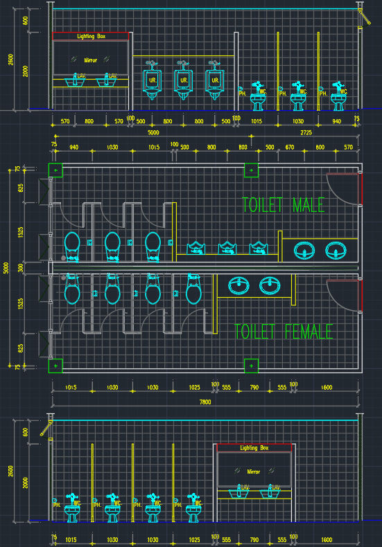 Public Toilet | | CAD Block And Typical Drawing For Designers