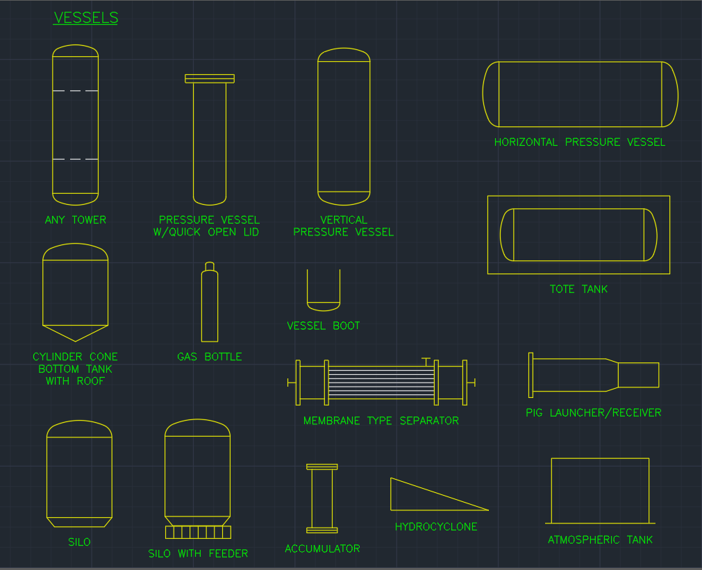 Vessels     CAD Block And Typical Drawing For Designers