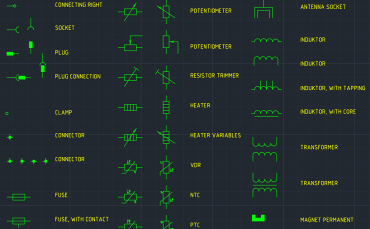 Electrical General Symbols Cad Block And Typical