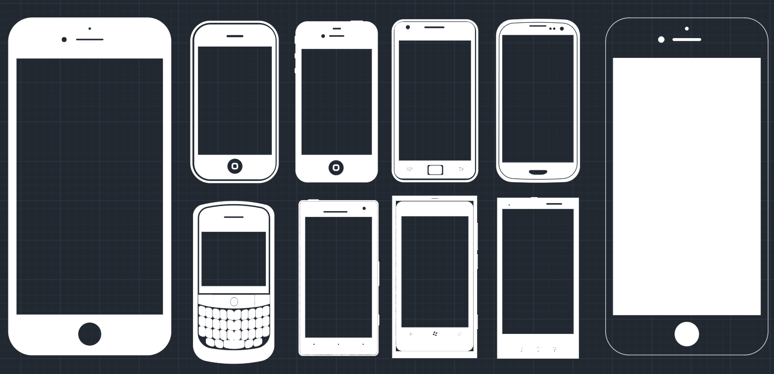 Mobile Phones     CAD Block And Typical Drawing For Designers