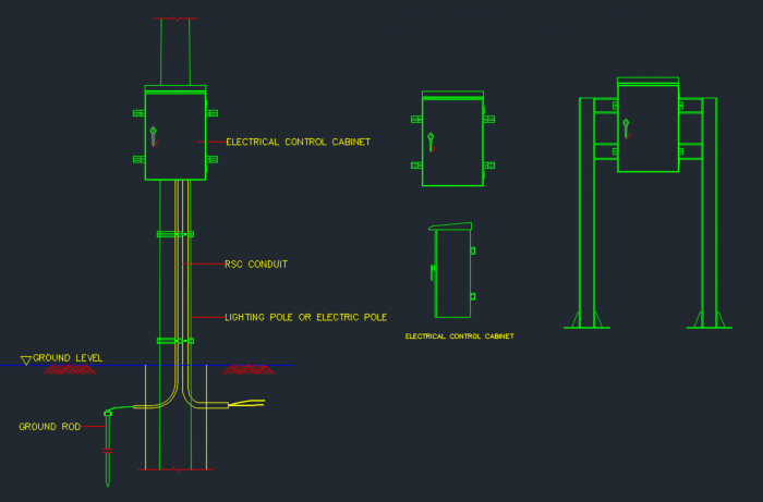 Electrical Box Autocad Free Cad Block Symbols And Cad Drawing