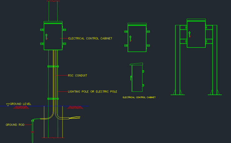 Conduit Cad Block And Typical Drawing For Designers