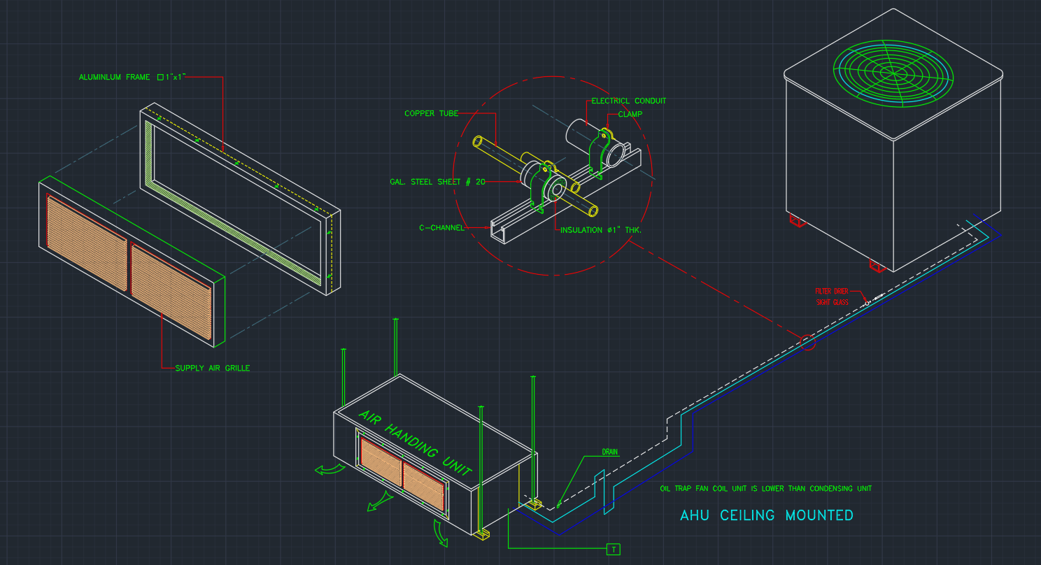 Air Handler Free Cad Blocks And Cad Drawing