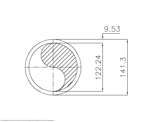 Pipe Schedule 80     CAD Block And Typical Drawing For Designers