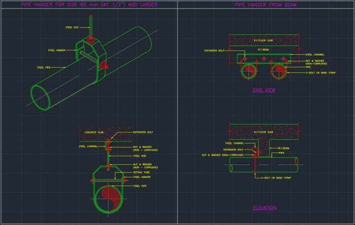Pipe Hanger Autocad Free Cad Block Symbols And Cad Drawing