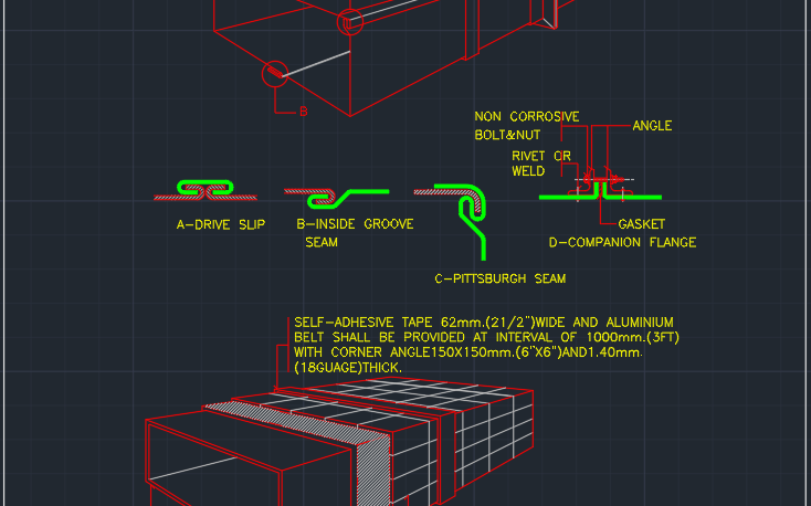Ductwork Cad Block And Typical Drawing For Designers