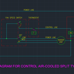 Split Type Aircon Wiring Diagram Msd 6al For Control Air Cooled Ac Unit | Free Cad Blocks And Drawing