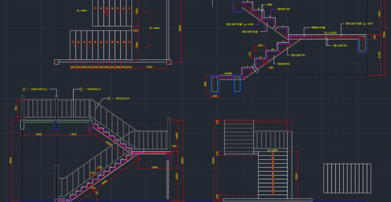 Concrete Stairs     CAD Block And Typical Drawing For Designers