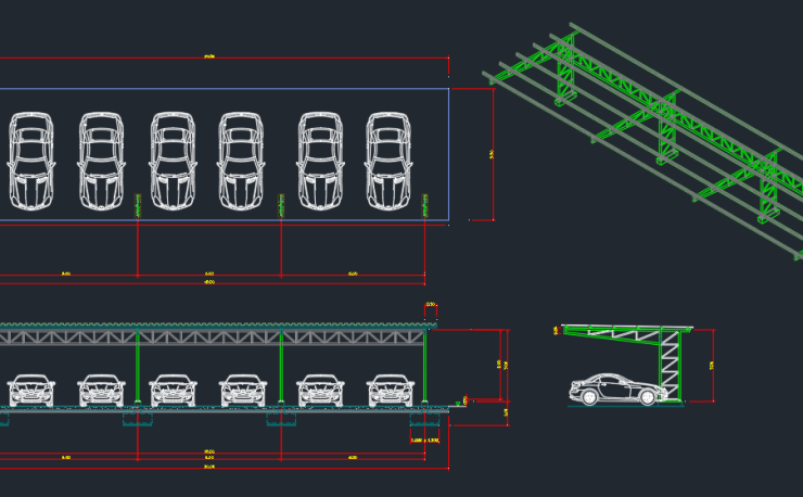 Free cad blocks and cad drawing car park ccuart Images