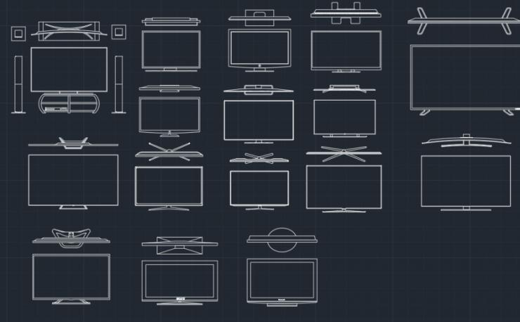 TV CAD BLOCK