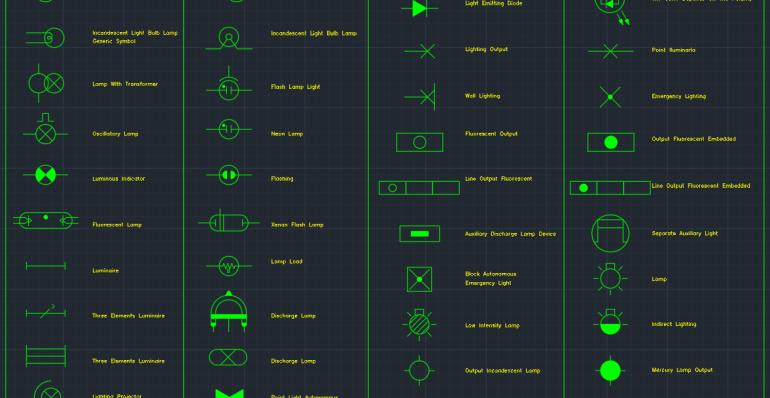 Electric Lighting Symbols