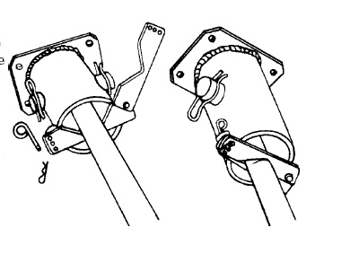 Kelly bar adapter no wrench auger Pole Line Hardware