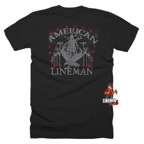 American Lineman Shirt - Linemen Rock - Lineman Shirts