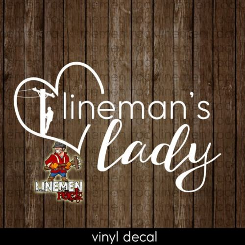 lineman's lady decal