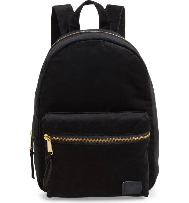 9d50c62a759 Herschel Grove XS Corduroy Black Backpack – Linen and Waves