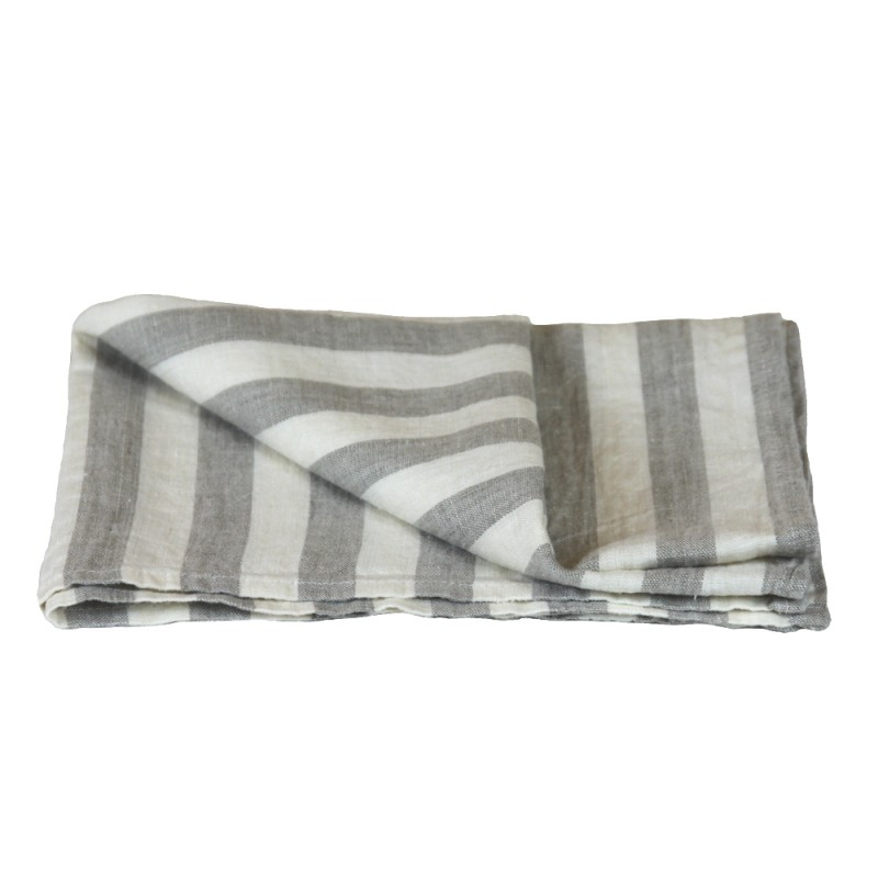 gray kitchen towels cabinet installation stonewashed linen pure 100 flax tea towel grey white wide stripes thin