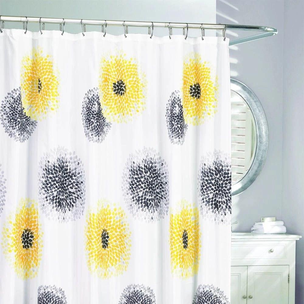 blossom fabric shower curtain