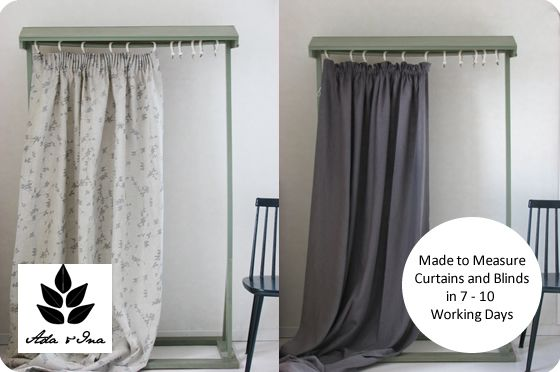 Made To Measure Curtains & Roman Blinds In Linen And Cotton