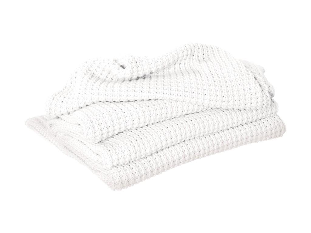 Sheridan Haden White Chunky Knit Throw