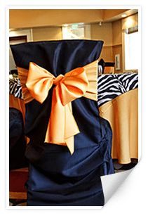 chair cover for rent wedding sleeper chairs small spaces covers linens event decor rental services