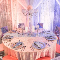 Chair Pad Covers Wedding Marble Table And Set Glamorous Pantone Serenity & Rose Quartz Inspiration! - Linen Hero