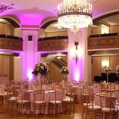 Wedding Chair Covers And Sashes High Top Table Chairs Outside Masonic Temple Peach Sequin Reception - Linen Hero