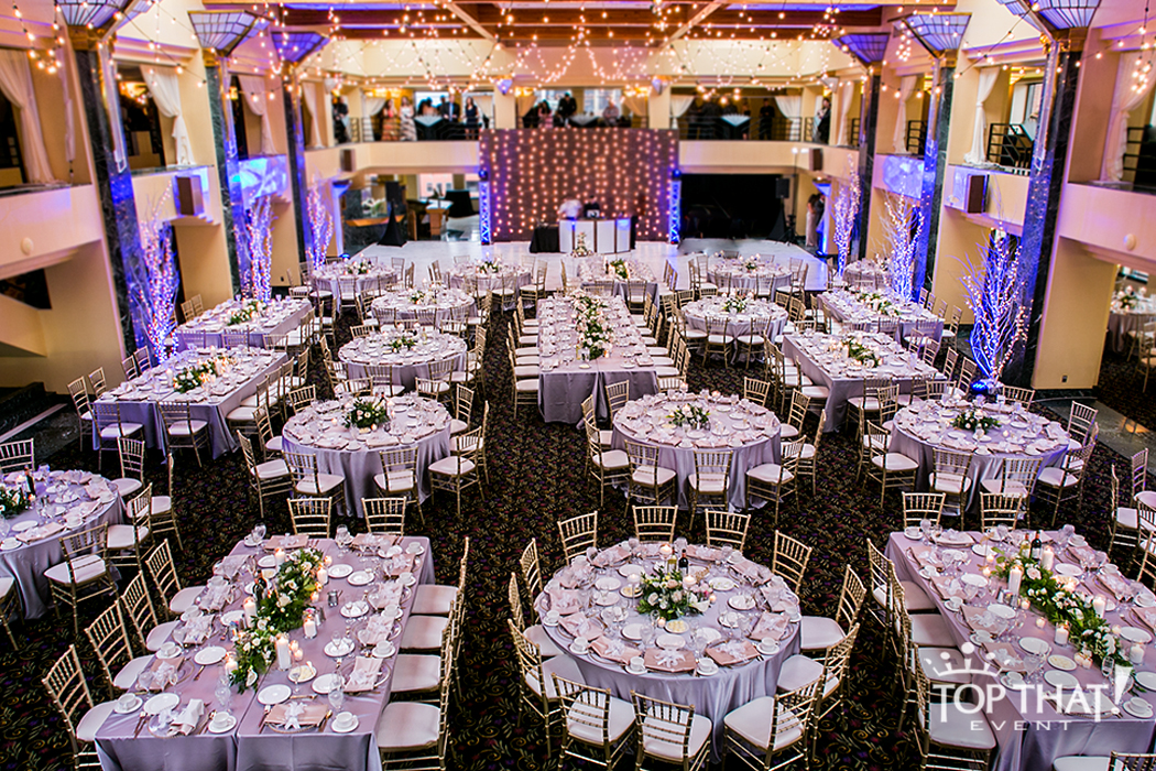 champagne banquet chair covers graco high blossom international center atheneum hotel wedding + reception flip - linen hero