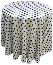 folding chair with side table portable massage costco choose rental or purchase polka dots fabric