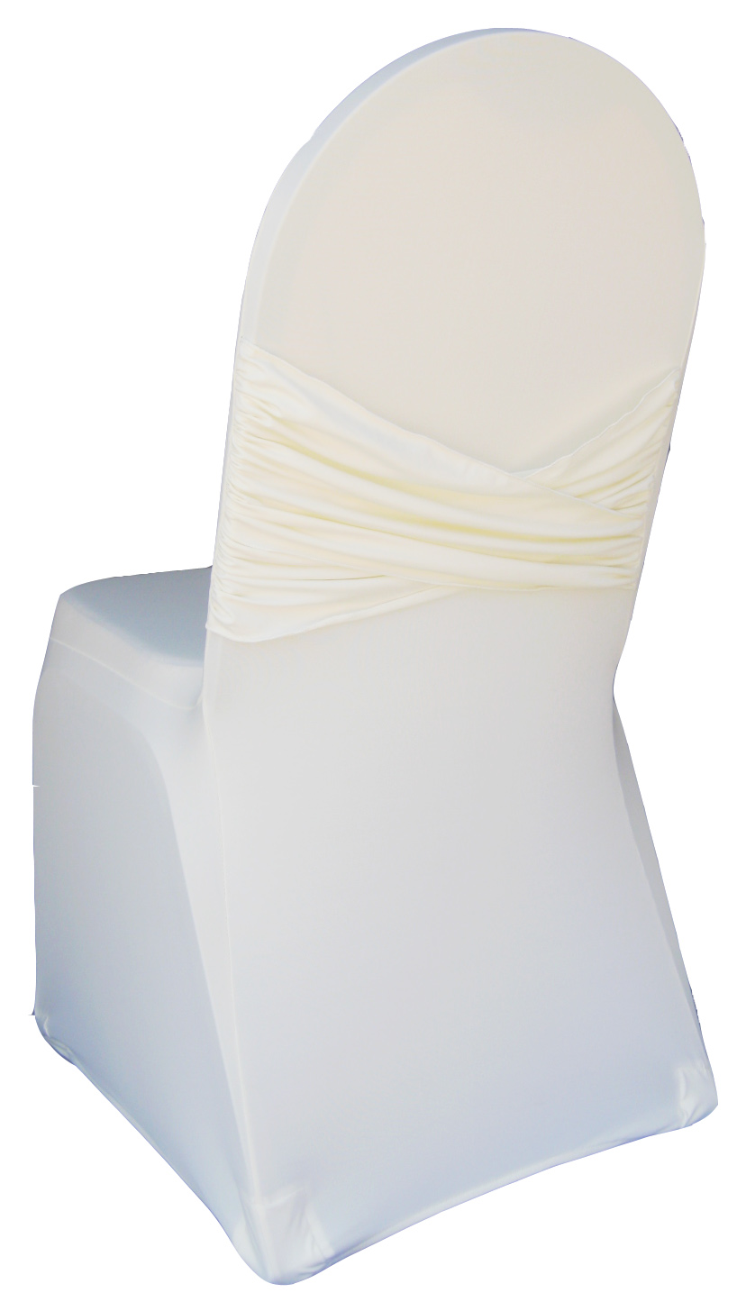 ivory chair covers spandex best rated massage madrid banquet cover